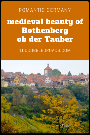 Rothenburg ob der Tauber is Germany's best preserved medieval walled town.