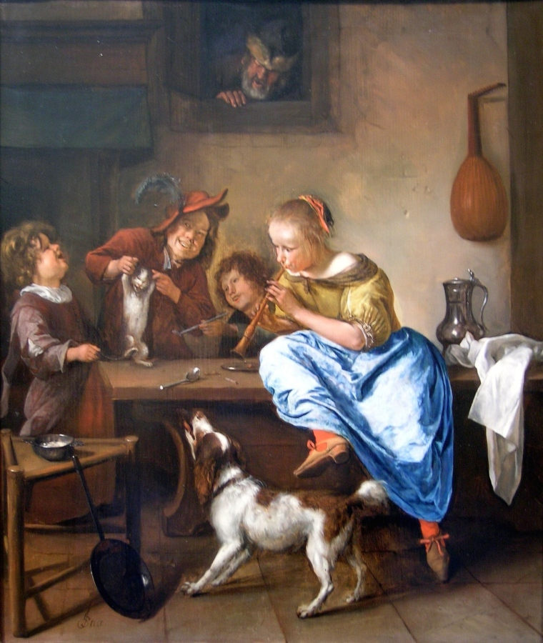Jan Steen - Cat