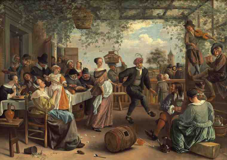 Jan Steen-Dancing Couple