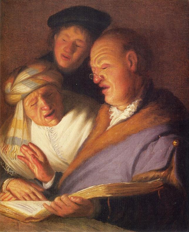 Rembrandt-Three Singers