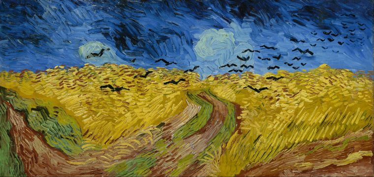 Van Gogh-Wheatfield with crows