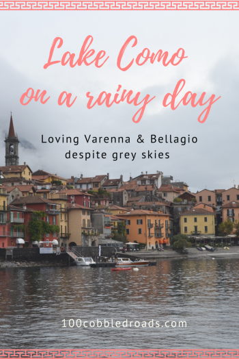 Lake Como on a rainy day