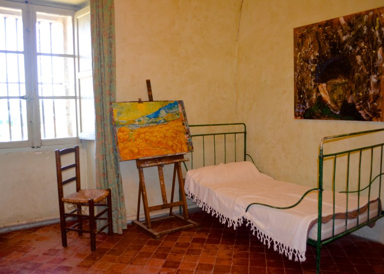 Van Gogh bedroom at Saint-Paul Asylum, Saint-Rémy, France