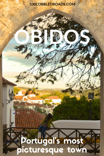 Obidos, Portugal's most picturesque town can be explored in a day. #obidos #portugal #medieval town #ginja