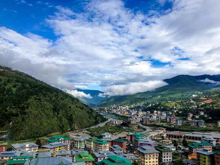 bhutan-the-village-mountains-green-city